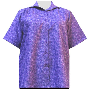 Purple Le Cirque Short Sleeve Tunic Women's Plus Size Blouse