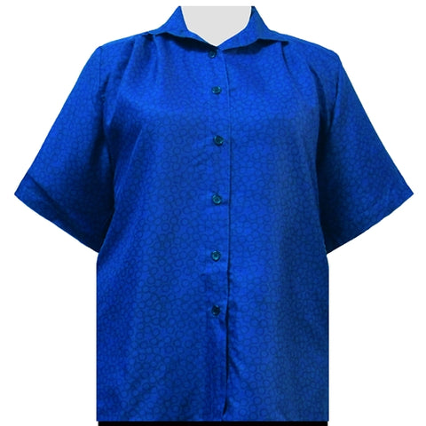 Royal Flo Short Sleeve Tunic Women's Plus Size Blouse