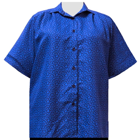 Royal Wreath Short Sleeve Tunic Women's Plus Size Blouse