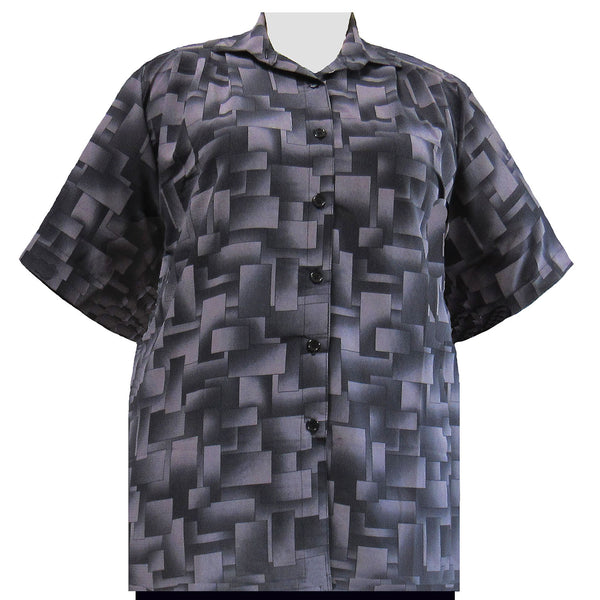 Short Sleeve Button-Front Tunic