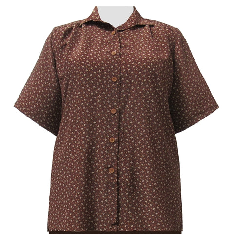 Leah Brown Short Sleeve Tunic Women's Plus Size Blouse