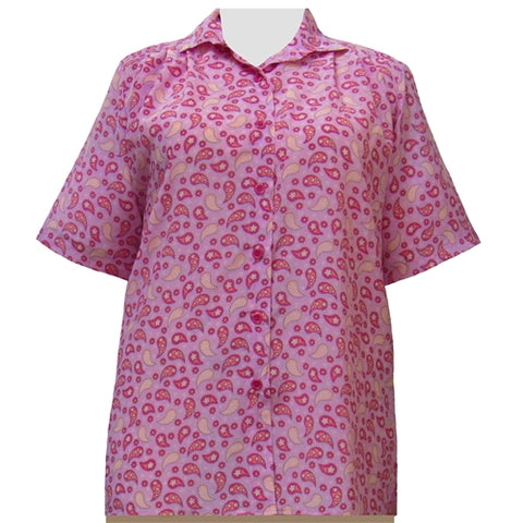 Pink Pasha Short Sleeve Tunic Women's Plus Size Blouse