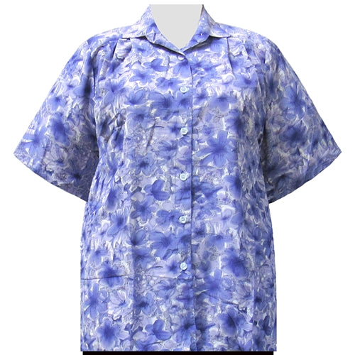 Purple Maura Short Sleeve Tunic Women's Plus Size Blouse