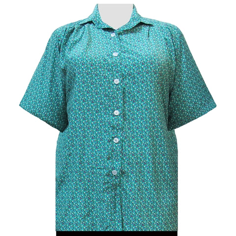 Confetti Short Sleeve Tunic Women's Plus Size Blouse