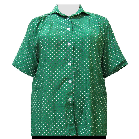 Kelly Dots Short Sleeve Tunic Women's Plus Size Blouse