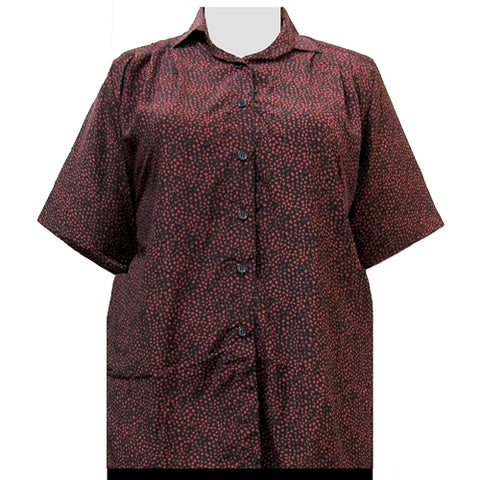 Spice Mini Abstract Short Sleeve Tunic Women's Plus Size Blouse