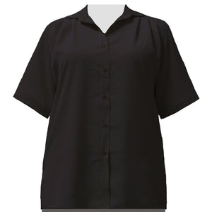 Black short sleeve Tunic Women's Plus Size Blouse