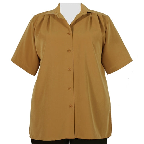 Honey short sleeve Tunic Women's Plus Size Blouse