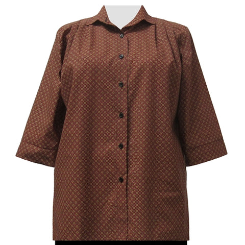 Foulard 3/4 Sleeve Tunic Women's Plus Size Blouse