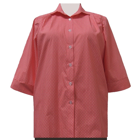 Melon Dots 3/4 Sleeve Tunic Women's Plus Size Blouse