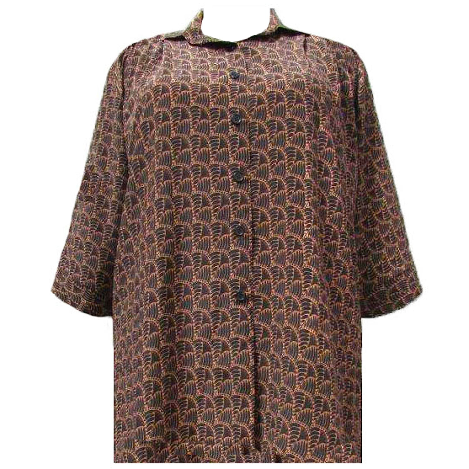3/4 Sleeve Button-Front Tunic