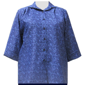 Blue Morrison 3/4 Sleeve Tunic Women's Plus Size Blouse