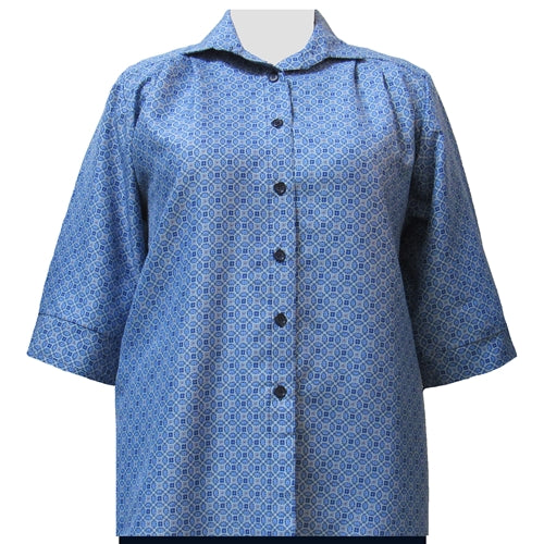 Greyson Blue 3/4 Sleeve Tunic Women's Plus Size Blouse