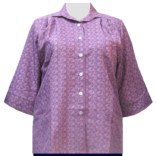 Mauve Cora 3/4 Sleeve Tunic Women's Plus Size Blouse