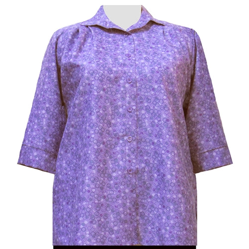 Purple Le Cirque 3/4 Sleeve Tunic Women's Plus Size Blouse