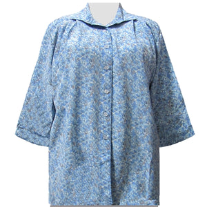 Blue Stella 3/4 Sleeve Tunic Women's Plus Size Blouse