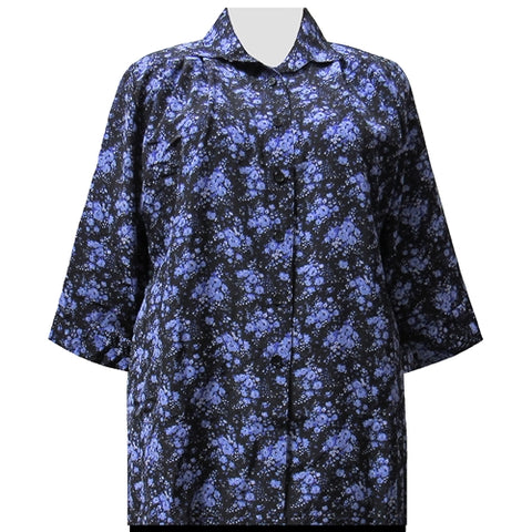 Purple Breck 3/4 Sleeve Tunic Women's Plus Size Blouse
