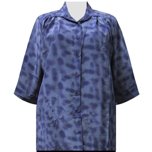 Purple Coils 3/4 Sleeve Tunic Women's Plus Size Blouse