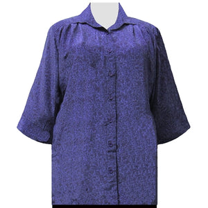 Purple Reagan 3/4 Sleeve Tunic Women's Plus Size Blouse