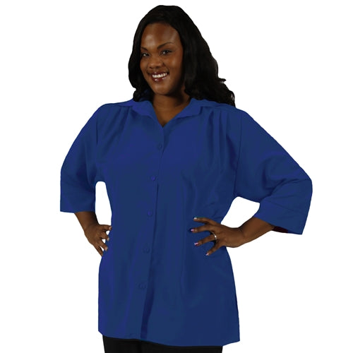 Royal 3/4 Sleeve Tunic Women's Plus Size Blouse