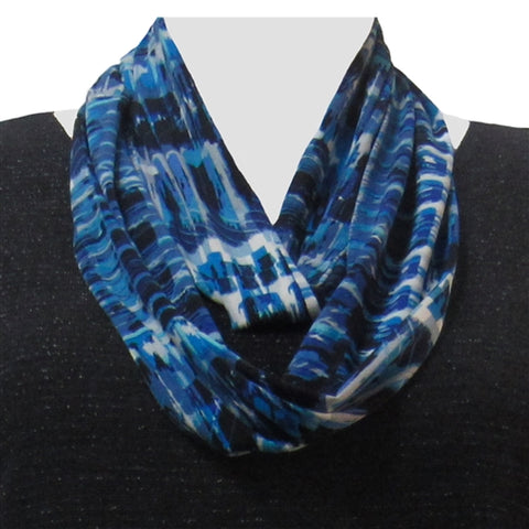 Cobalt Lattice Infinity Scarf