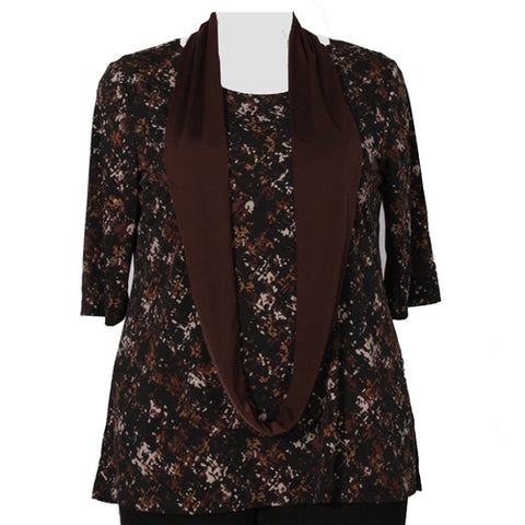 Chocolate Brown Infinity Scarf