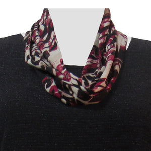 Crimson Abstract Infinity Scarf