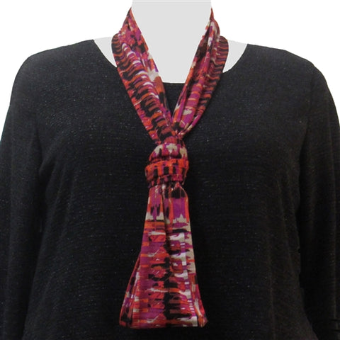 Fuchsia Lattice Infinity Scarf
