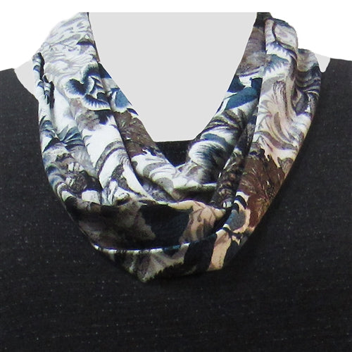 Platinum Floral Infinity Scarf