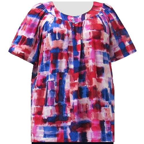 Patriotic V-Neck Pullover Women's Plus Size Top