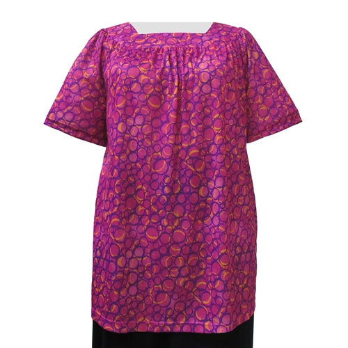 Star Dance Short Sleeve Square Neck Pullover Women's Plus Size Top
