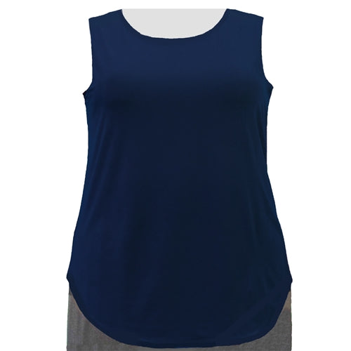 Navy Tank Top Women's Plus Size Tank Top
