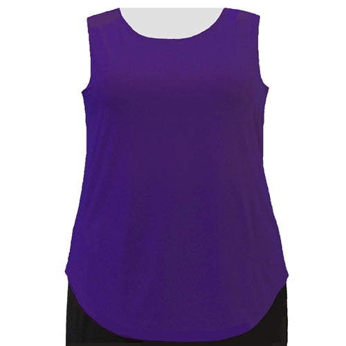 Purple Tank Top Women's Plus Size Tank Top