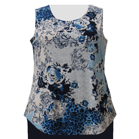 Leopard Lace Layering Tank Top Women's Plus Size Tank Top