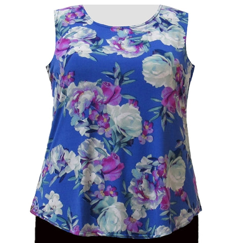Periwinkle Bouquet Layering Tank Top Women's Plus Size Tank Top