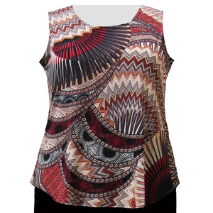 Spice Geometric Layering Tank Top Women's Plus Size Tank Top