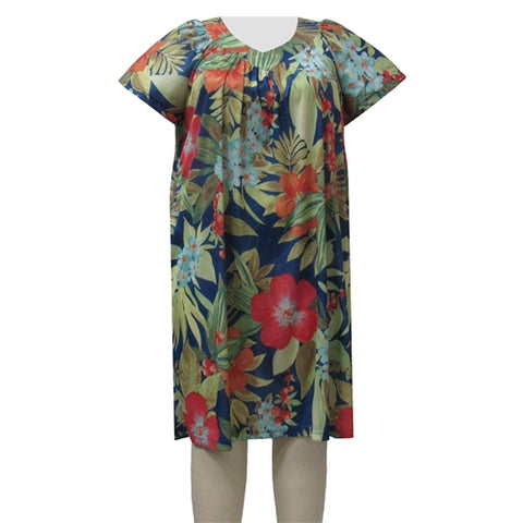 Multi Floral Lounging Dress Women's Plus Size Dress