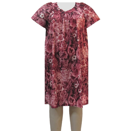 Mauve Blossom Lounging Dress Women's Plus Size Dress