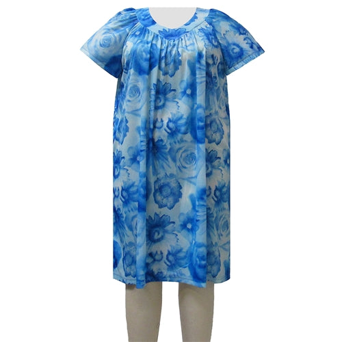 Watercolor Floral Lounging Dress Women's Plus Size Dress