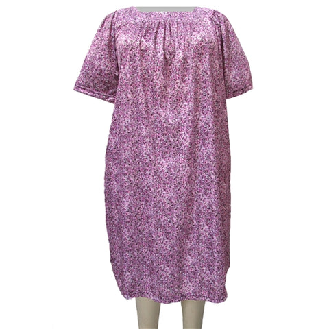 Purple Garden Square Neck Lounging Dress Women's Plus Size Dress