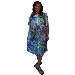 Seattle Square Neck Lounging Dress Women's Plus Size Dress
