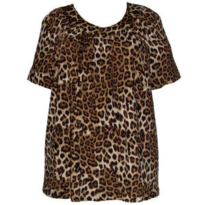 Short Sleeve V-Neck Pullover Top