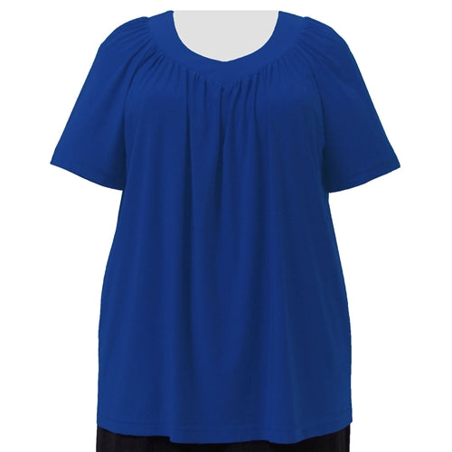 Cobalt V-Neck Pullover Top Women's Plus Size Pullover Top