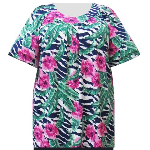 Paradise V-Neck Pullover Women's Plus Size Top