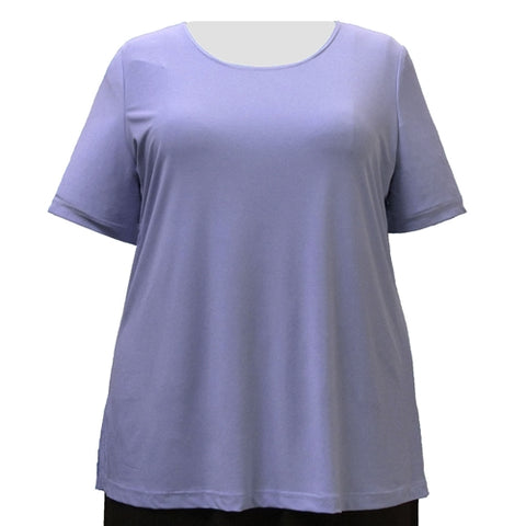 Lilac Round Neck Pullover Top Women's Plus Size Top