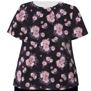 Short Sleeve Round Neck Pullover Top