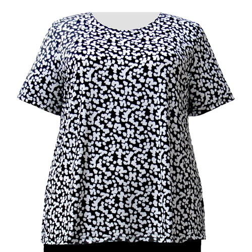 Snowcaps Round Neck Pullover Top Women's Plus Size Top