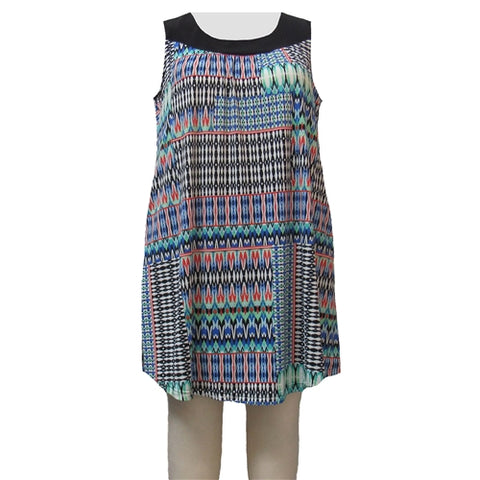 Azure Tribal Stephanie Cover Up Dress Women's Plus Size Dress
