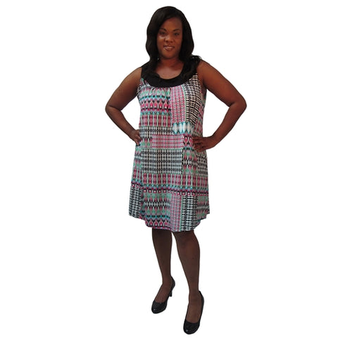 Strawberry Tribal Stephanie Cover Up Dress Women's Plus Size Dress