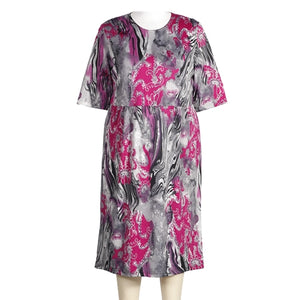 Karina Fuchsia Easy Fit - Easy Comfort Dress - Women's Plus Size Dress
